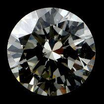 A brilliant cut diamond, weighing 0.49ct