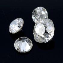Fourteen vari-shape diamonds, weighing 1.05ct