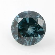 A brilliant cut 'blue' diamond, weighing 0.52ct