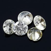 Selection of brilliant cut diamonds, weighing 1.68ct. Including a 'green' diamond