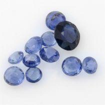 STUART DEVLIN STOCK - Selection of circular shape blue sapphires, weighing 2.24ct