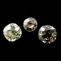 Three old cut diamonds and twenty rose cut diamonds, weighing 1.22ct