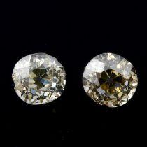 Two vari-shape diamonds, weighing 0.92ct