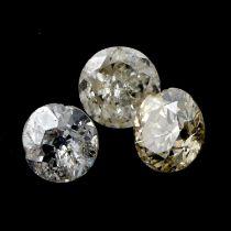 Ten vari-shape diamonds weighing 6ct