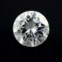 A brilliant cut diamond, weighing 1.32cts.