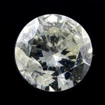 A brilliant cut diamond, weighing 1.65ct
