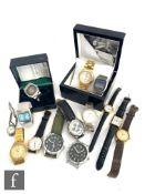 A small parcel lot of assorted lady's and gentleman's wrist watches to include Rotary, Tavistock &