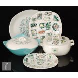 A collection of assorted 1950s Midwinter dinner wares comprising a Primavera pattern tureen and