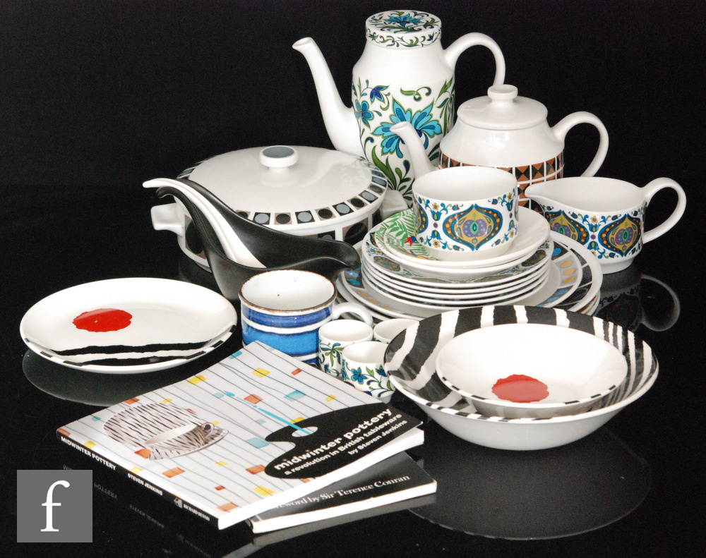 A collection of assorted Midwinter tea and dinner wares to include a Diagonal pattern designed by