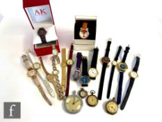 A parcel lot of assorted lady's and gentlemen's modern quartz wrist watches to include Rotary and