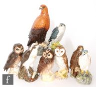 Six assorted Royal DoultonWhyte and Mackay Scotch Whisky models of birds comprising a Kestrel,