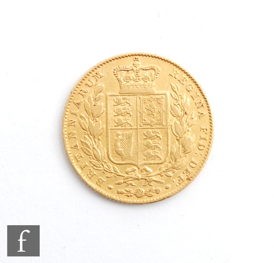 A Victoria sovereign 1844, shield reverse. - Image 2 of 2