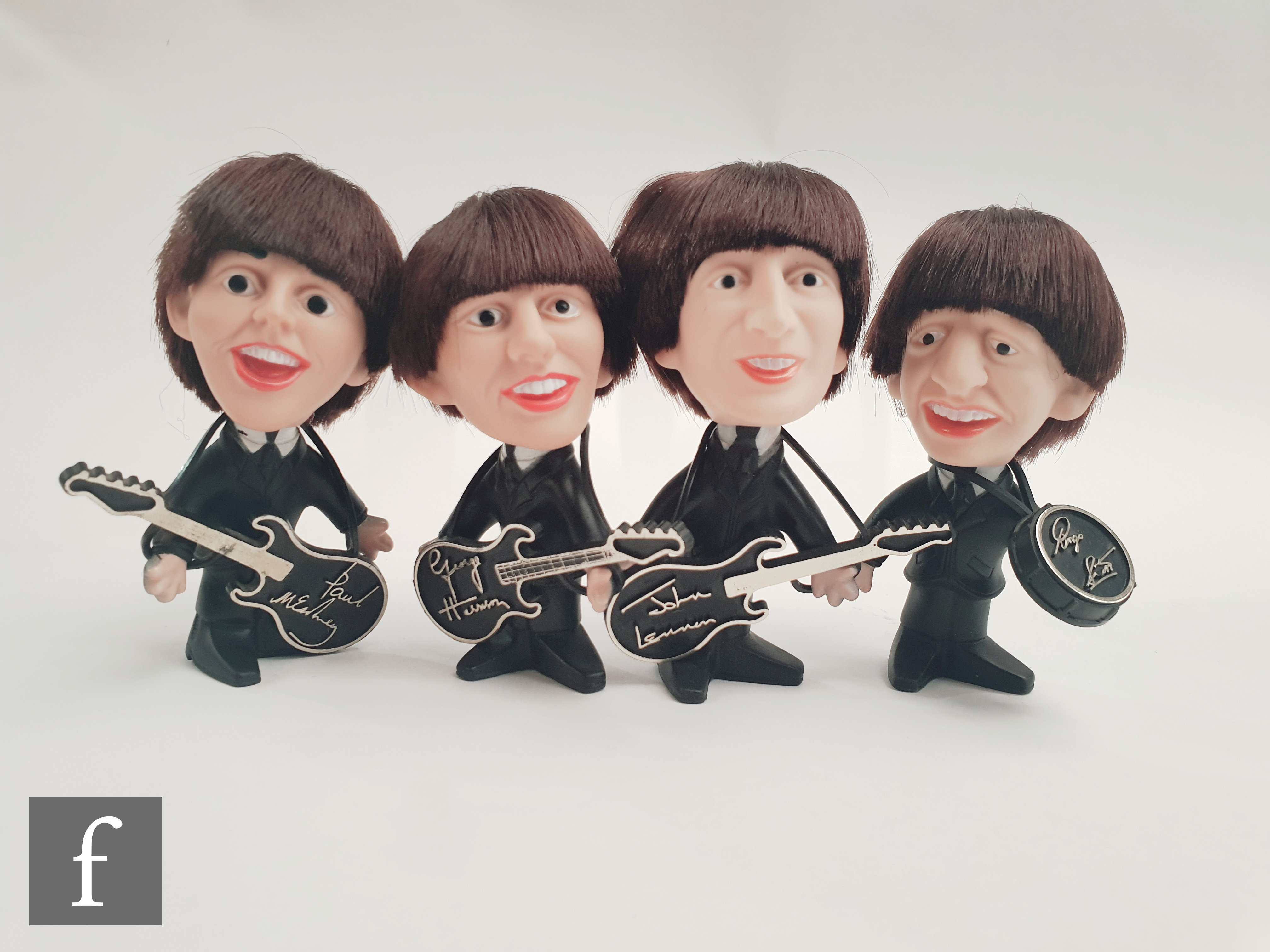 A small group of Beatles original collectables, to include a set of 1964 Nems Enterprises rubber