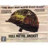 A Full Metal Jacket British Quad film poster, 1987, 29.5 inches x 40 inches, trimmed and folded.