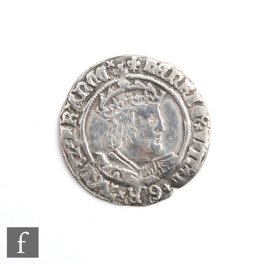 A Henry VIII (1509-26) groat, first coinage.