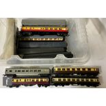 A collection of assorted OO gauge Coaches by Triang, Airfix, Hornby and similar to include