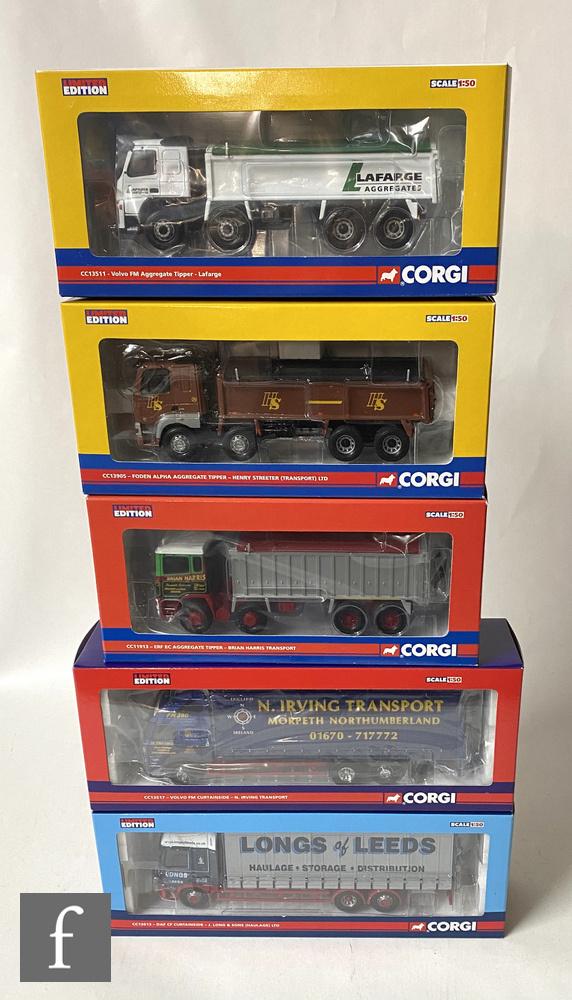 Five Corgi Rigids 1:50 scale diecast models, to include CC13905 Henry Streeter LTD. Foden Alpha