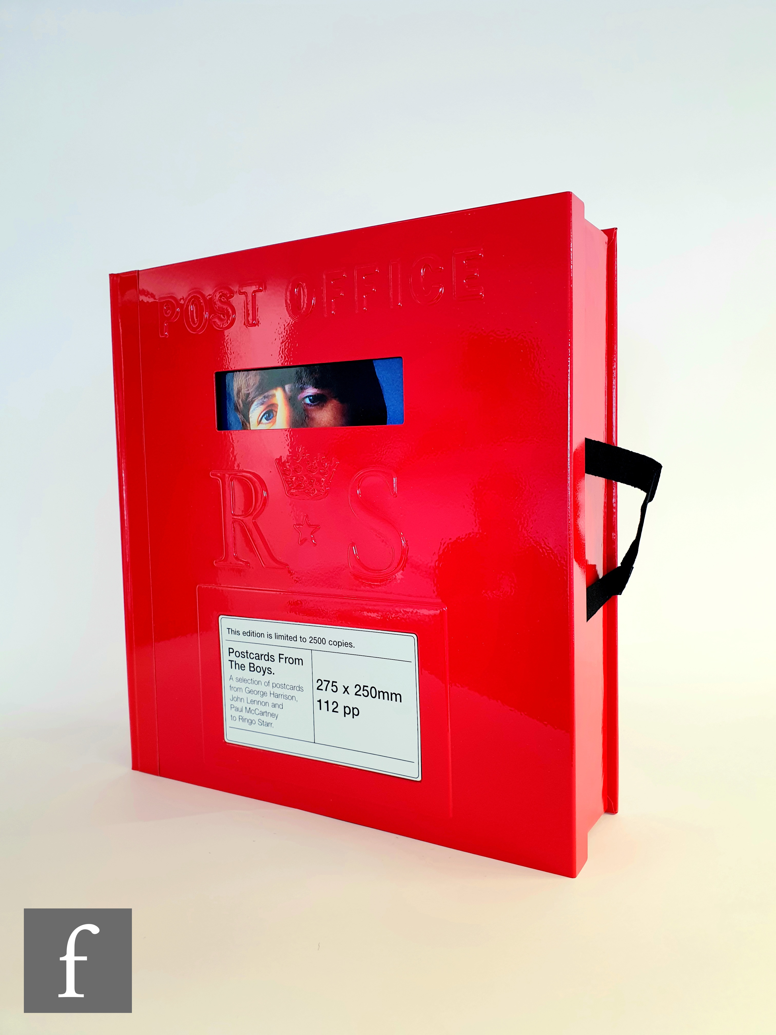 A limited edition Beatles 'Postcards from the boys', Genesis Publications, the metal red post box