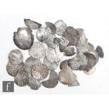 Various Edward I to James I pennies, half pennies, cut quarters and fragments. (qty)