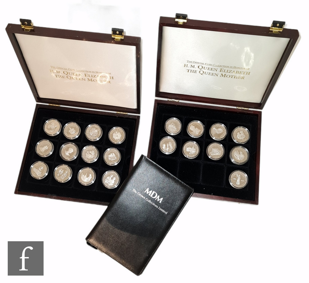 Forty fiveElizabeth II silver proof coins for 'The official coin collection in honour of H.M