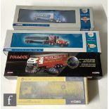 Four Corgi 1:50 scale diecast models, comprising 55610 Texaco Pipeline Diamond T980 Wrecker &
