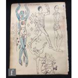 ALBERT WAINWRIGHT (1898-1943) - 'Danseur', depicting sketches of various male dancers, to the