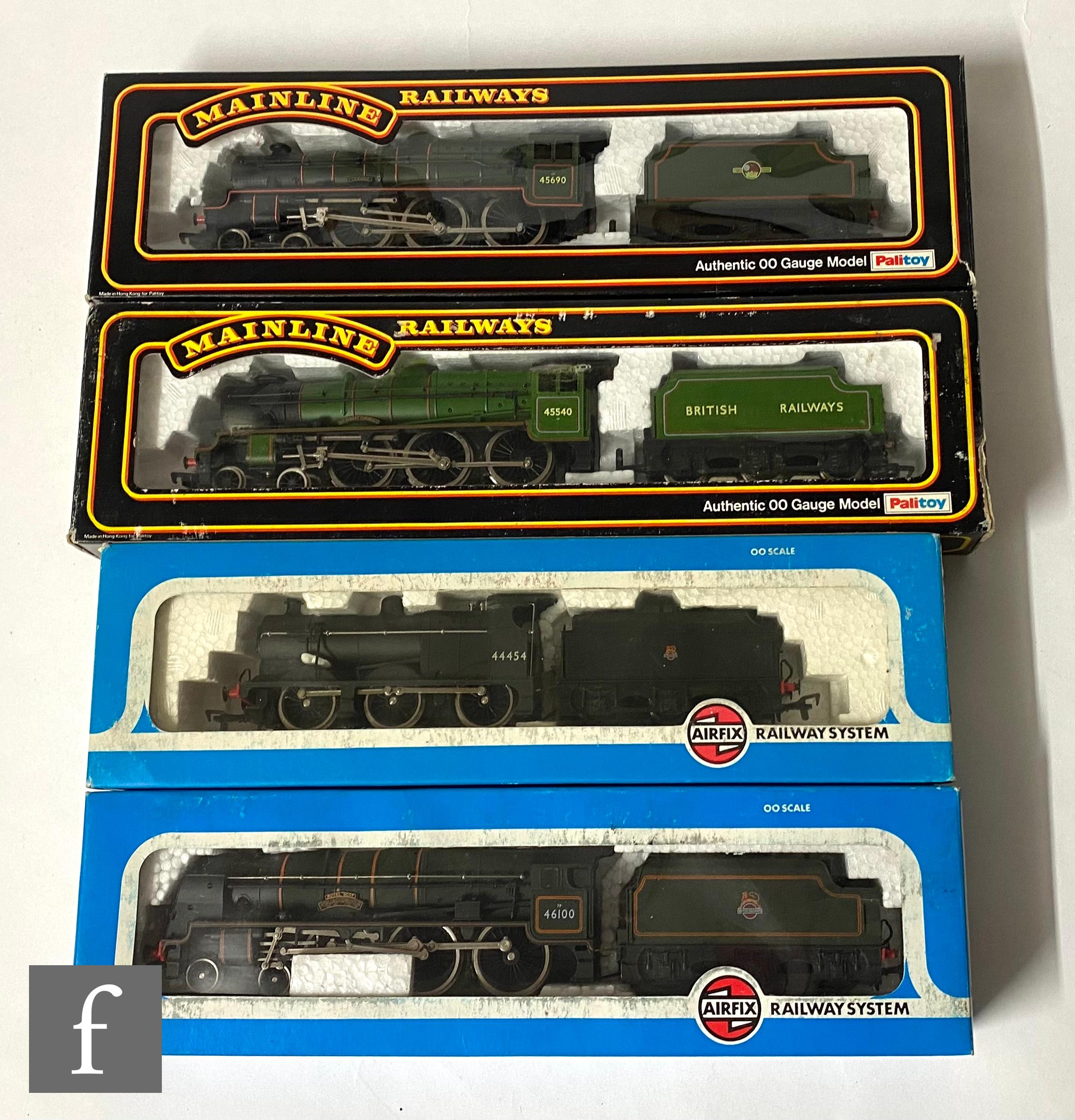 Four OO gauge locomotives, comprising Mainline 37089 4-6-0 BR green 'Leander', Mainline 37075 4-6- - Image 2 of 2