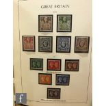 A GB album of stamps to include Edward VIII series 1936 to 1969, the 1939/48 set 2/6d to £1 and