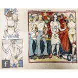 ALBERT WAINWRIGHT (1898-1943) - Shakespeare in Modern Dress, a sketch depicting sailors, a female in