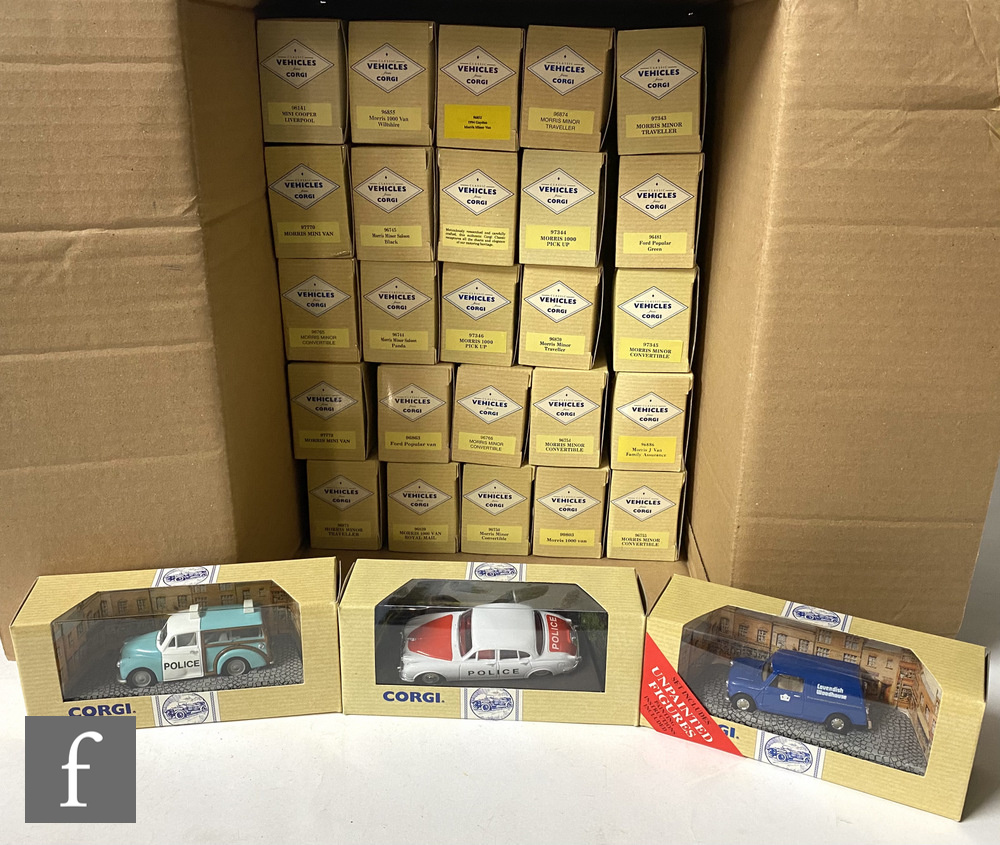 Twenty eight Corgi Classic Vehicles diecast models, to include assorted mostly Morris vans cars