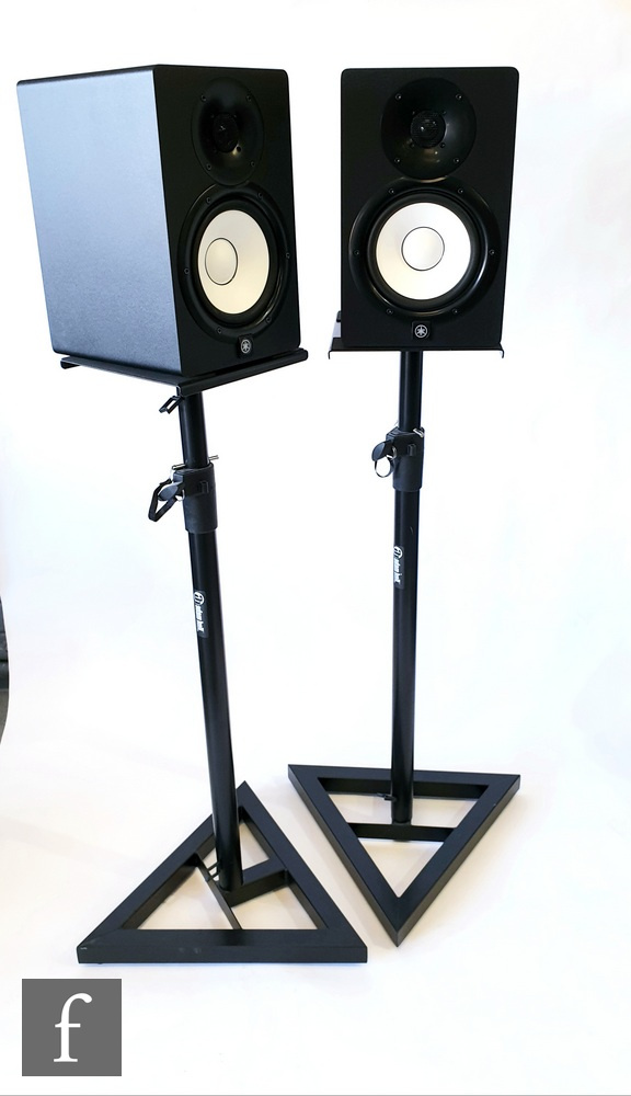 A pair of Yamaha HS7 Active Studio Monitor speakers, serial numbers BFVH01109 and BFVH01123, sold
