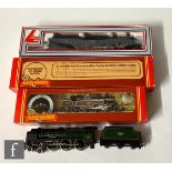 Three boxed OO gauge locomotives, comprising Hornby R324 4-6-0 BR black 'Lady Godiva', Hornby R062
