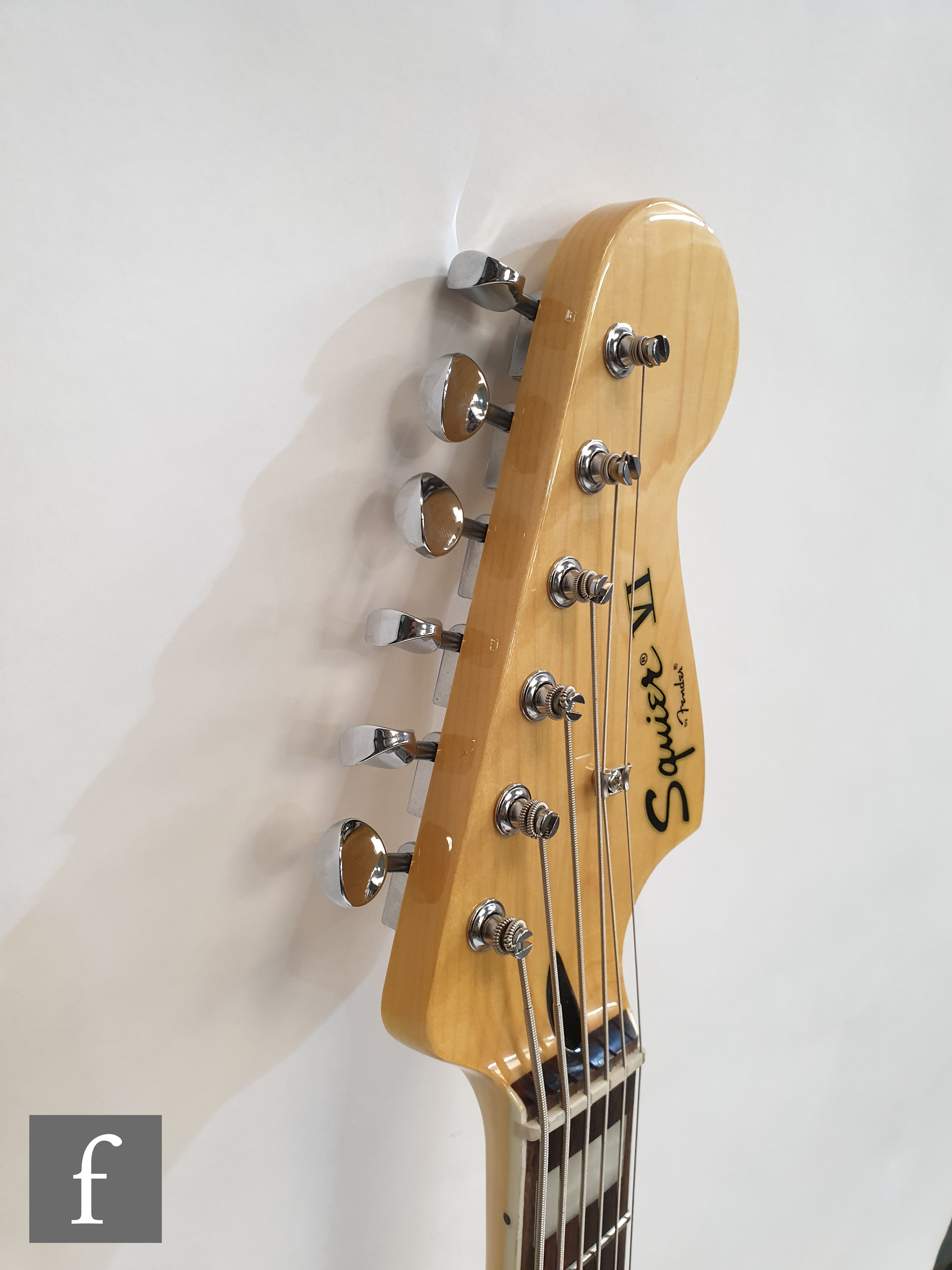 A Squire VI by Fender electric guitar, serial number 15208800, made in Indonesia, sunburst finish, - Image 3 of 4
