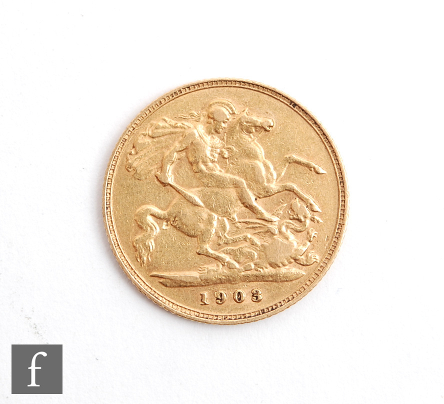 An Edward VII half sovereign, dated 1903. - Image 2 of 2