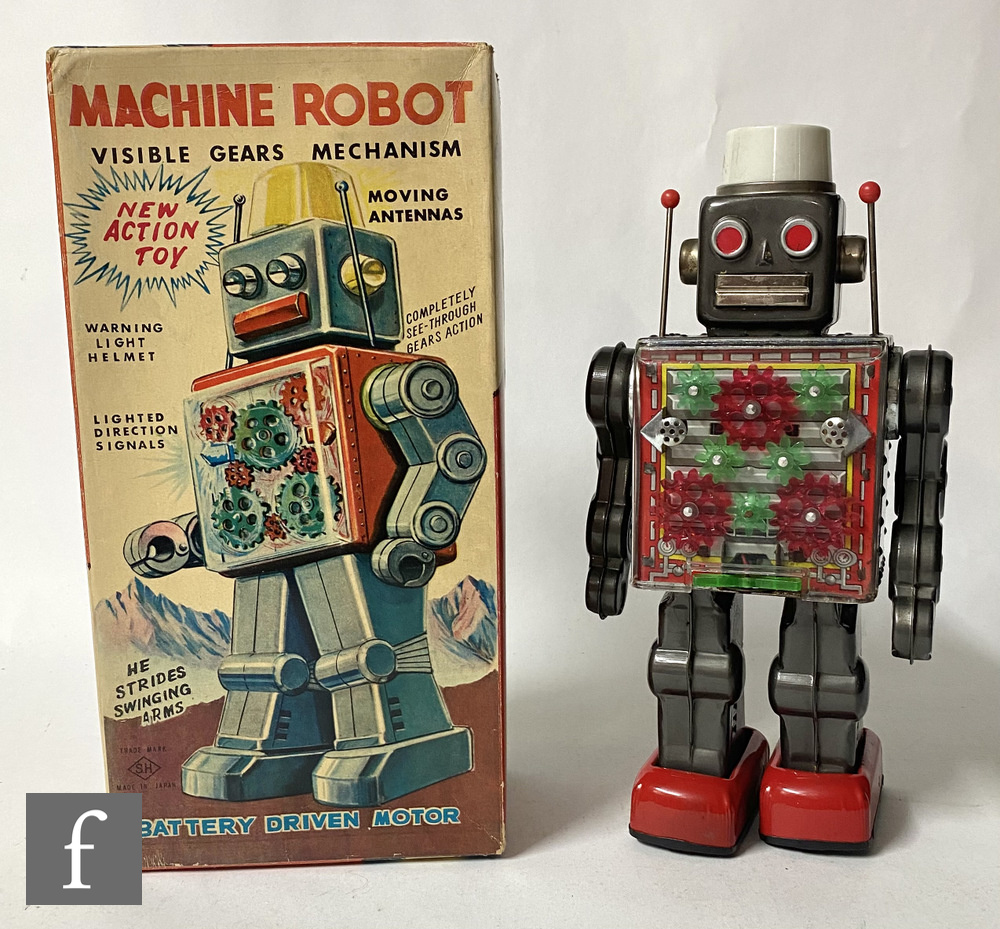 A Japanese Horikawa Machine Robot, tinplate and plastic robot in picture box with inner packing