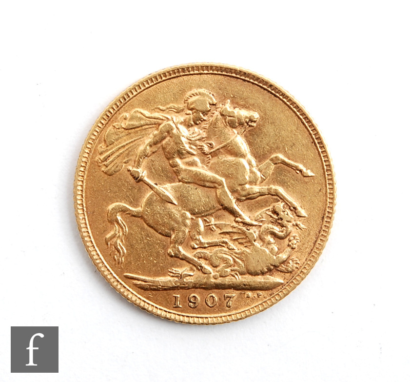 An Edward VII sovereign 1907. - Image 2 of 2