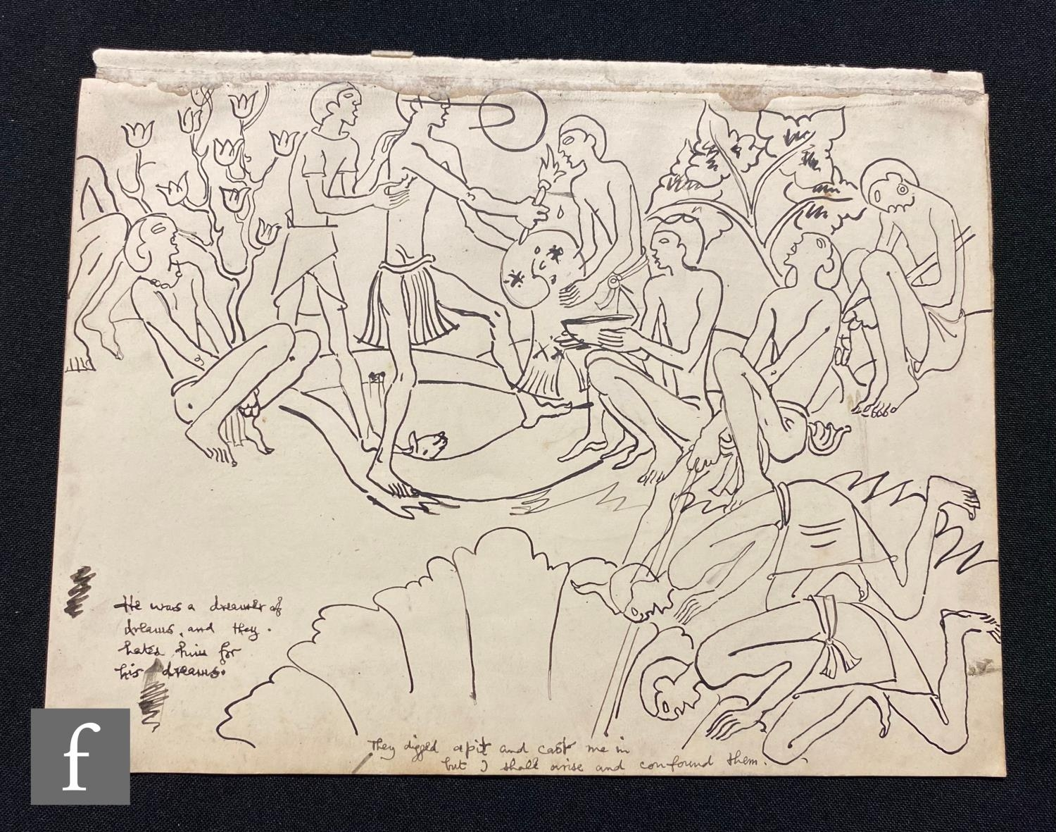 ALBERT WAINWRIGHT (1898-1943) - A sketch depicting boy scouts in various poses, to the reverse a - Image 2 of 2