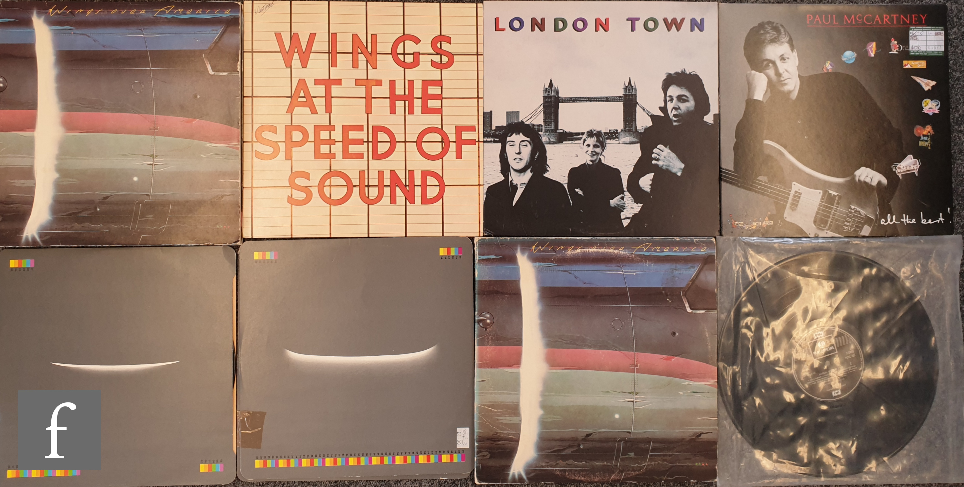A collection of mixed genre LPs to include Paul McCartney and Wings, Wings Over America, London