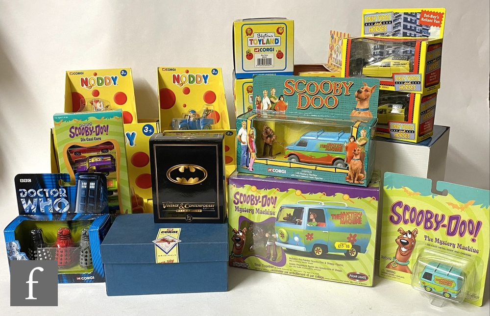 Twenty TV and film related diecast models, mostly Corgi, to include Doctor Who, Scooby Doo,