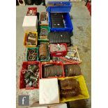A collection of 5 inch gauge locomotive and tender parts, mainly for an A4 Class locomotive to
