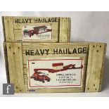 Two Corgi Heavy Haulage 1:50 scale diecast model sets, CC12307 United Heavy Transport Scammell