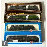 Four OO gauge locomotives, comprising Mainline 37089 4-6-0 BR green 'Leander', Mainline 37075 4-6-