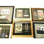 A collection of Beatles limited film cell montages to include Imagine, Yellow Submarine, The concert