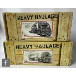 Two Corgi Heavy Haulage 1:50 scale diecast models, CC12804 Thomas Herron Scania King Trailer with