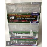 Five Corgi Eddie Stobart 1:50 scale diecast models, comprising 75804 MAN Curtainside, CC13401 MAN