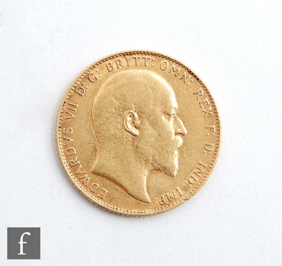 An Edward VII sovereign 1907.