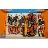 Twenty Britains hollowcast toy soliders, set 1475 comprising seven Beefeater Yeoman Warders, set
