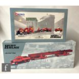 Two Corgi Heavy Haulage 1:50 scale diecast model sets, 31009 Wynns Diamond T Ballast x 224 Wheel