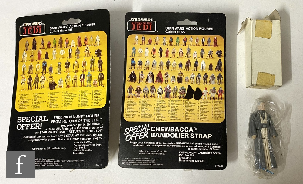 """Three Star Wars 3 3/4"""" action figures, comprising Squid Head on Palitoy 65 back card, Bespin - Image 2 of 2"""