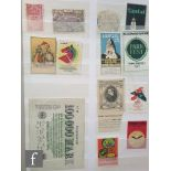A collection of GB stamp booklets including some pre-decimal examples, a folder relating to the